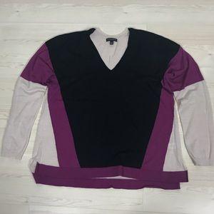 Lane Bryant Merino Wool Colorblock Sweater 18/20
